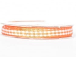 Gingham ribbon spool - orange