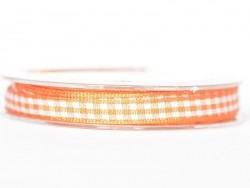 Rolle Band mit Vichymuster - orange