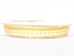 Gingham ribbon spool - yellow