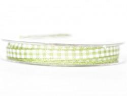 Gingham ribbon spool - green