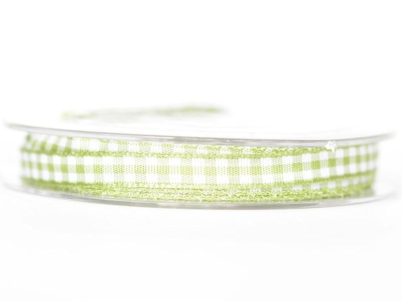Bobine de ruban vichy - vert