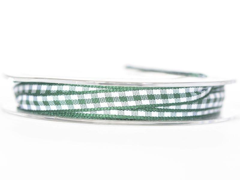 Bobine de ruban vichy - vert sapin