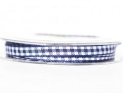 Gingham ribbon spool - navy blue