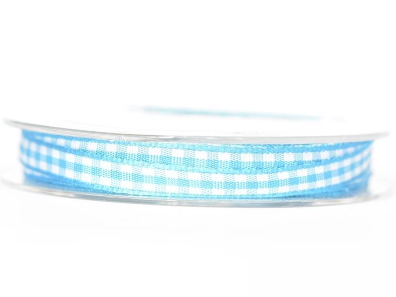 Bobine de ruban vichy - turquoise