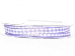 Bobine de ruban vichy - violet