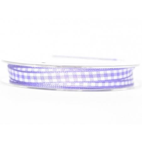 Gingham ribbon spool - violet