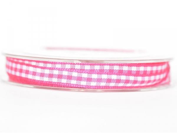 Bobine de ruban vichy - rose foncé Rayher - 1