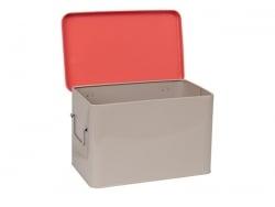 3 boîtes en métal - Blanc, gris et orange