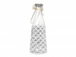 Bouteille en verre rétro à motif hexagonal