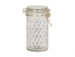 Einweckglas mit Dreiecksmotiv