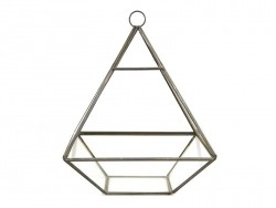 Pyramid-shaped terrarium