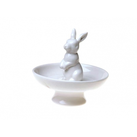 Jewellery bowl with a rabbit