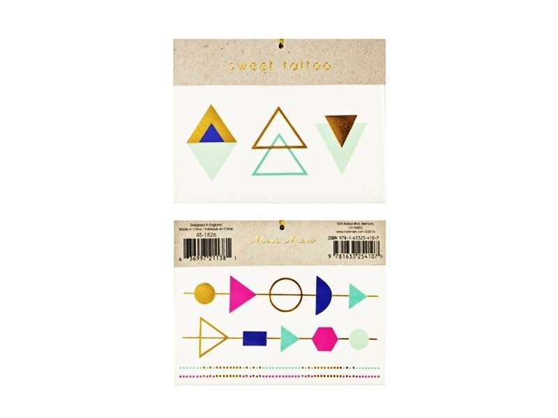 7 graphic tattoos - Geometric shapes and bracelets