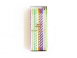 boîte de 24 bougies colorées - Jaune, violet, bleu, rouge, vert Meri Meri - 1