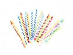 boîte de 24 bougies colorées - Jaune, violet, bleu, rouge, vert