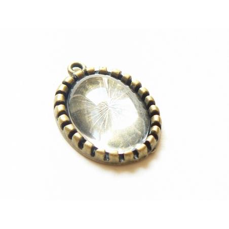 Acheter Pendentif cabochon en verre à personaliser Bronze - 2,19€ en ligne sur La Petite Epicerie - Loisirs créatifs