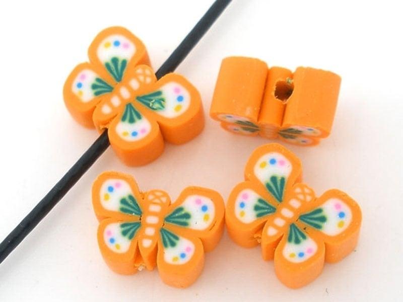 10 perles papillons