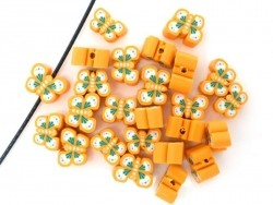 10 butterfly beads