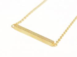 Collier fin barre géométrique  -  doré