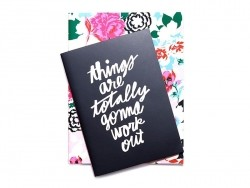 2 carnets noir et fleuris