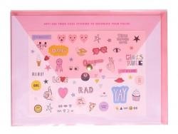 Transparent pink folder