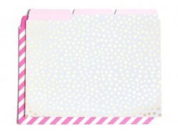 6 file folders - Polka dots and stripes