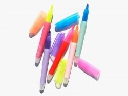 5 neonfarbene Textmarker