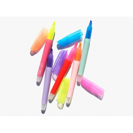 5 neon-coloured highlighters