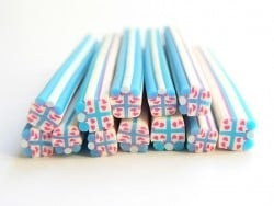 Gift cane - blue and white