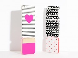 Batterie chargeur d'Iphone 5/6 - rose fluo