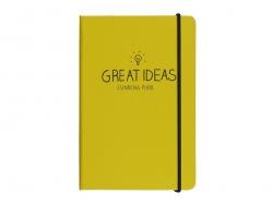 "Carnet A6 jaune ""Great ideas"""