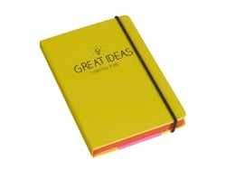 "Carnet A6 jaune ""Great ideas"""