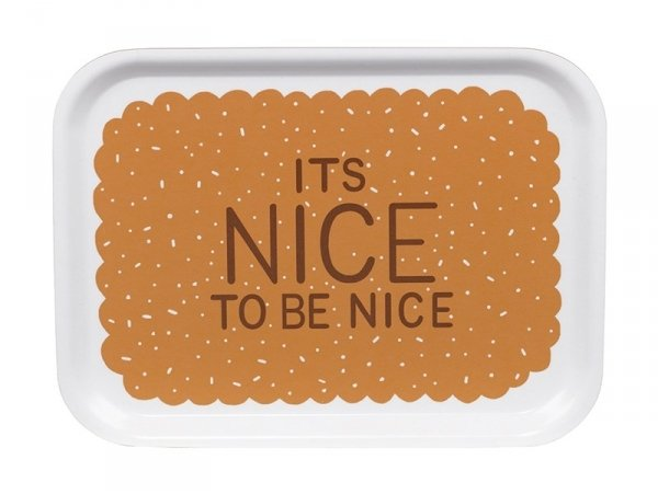 """Small wooden tray - """"It's nice to be nice"""""""