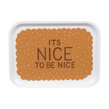 """Petit plateau en bois """"It's nice to be nice"""""""