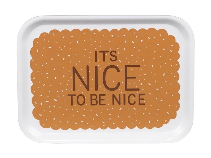 """Petit plateau en bois """"It's nice to be nice""""  - 1"""