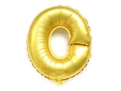 1 golden letter balloon (40 cm) - letter O