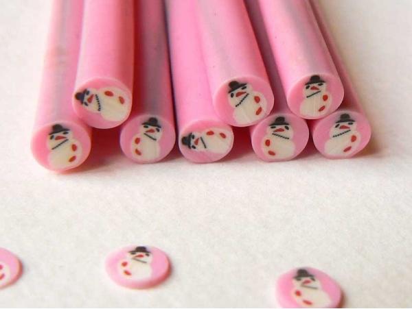 Acheter Cane bonhomme de neige rose - 0,99€ en ligne sur La Petite Epicerie - Loisirs créatifs