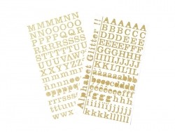 Letter stickers - golden glitter