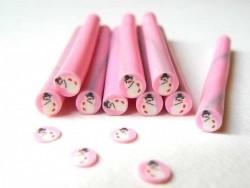 Snowman cane - pink