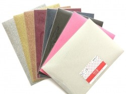 Tissu thermocollant à paillettes - argenté