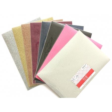 Tissu thermocollant à paillettes - fuchsia