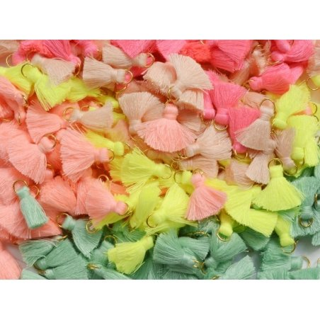 Acheter Pendentif pompon - rose fluo - 0,59€ en ligne sur La Petite Epicerie - Loisirs créatifs