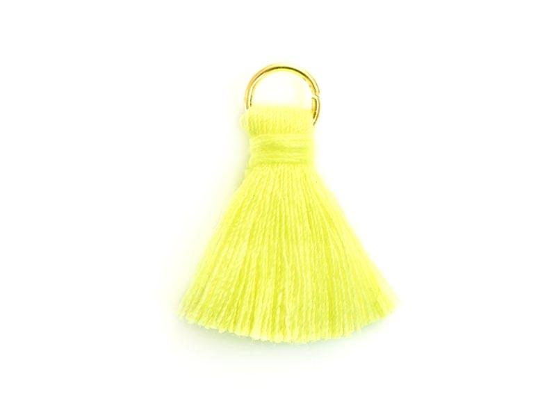 Acheter Pendentif pompon - jaune - 0,59€ en ligne sur La Petite Epicerie - Loisirs créatifs