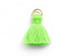 Pendentif pompon - vert fluo