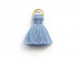 Pendentif pompon - bleuet