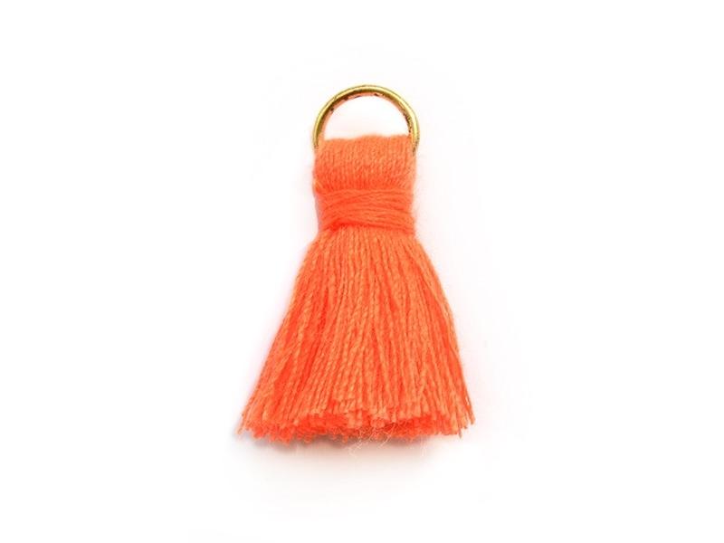 Acheter Pendentif pompon - orange fluo - 0,59€ en ligne sur La Petite Epicerie - Loisirs créatifs