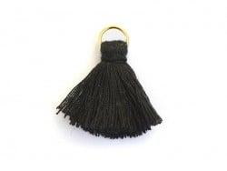 Pendentif pompon - noir