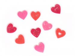 Kleine Filzstreuteile - Herzen