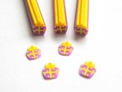 Cane cadeau violet et jaune  - 1