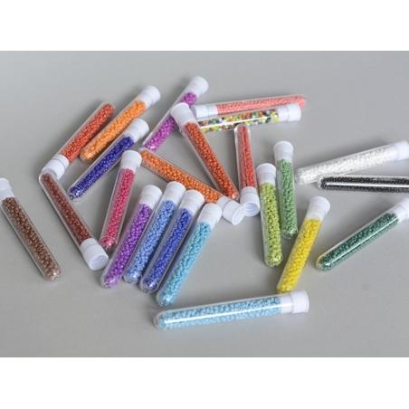 Acheter Tube de 350 perles de rocailles opaques- orange clair - 0,99€ en ligne sur La Petite Epicerie - Loisirs créatifs